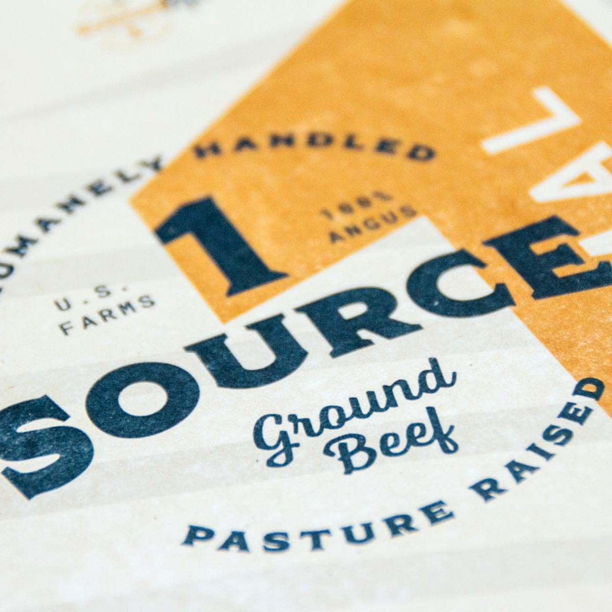 photo of 1 source ground beef packaging