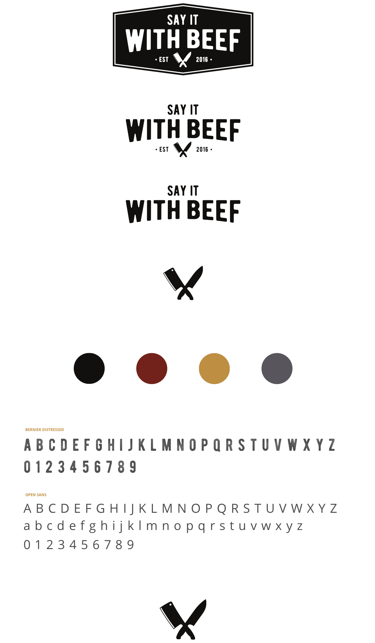say it with beef logos and branding elements