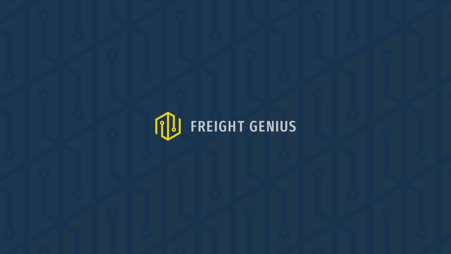freight genius logo on patterned background