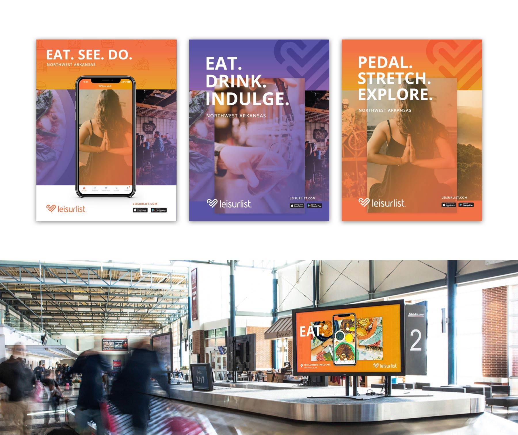leisurlist poster advertisements