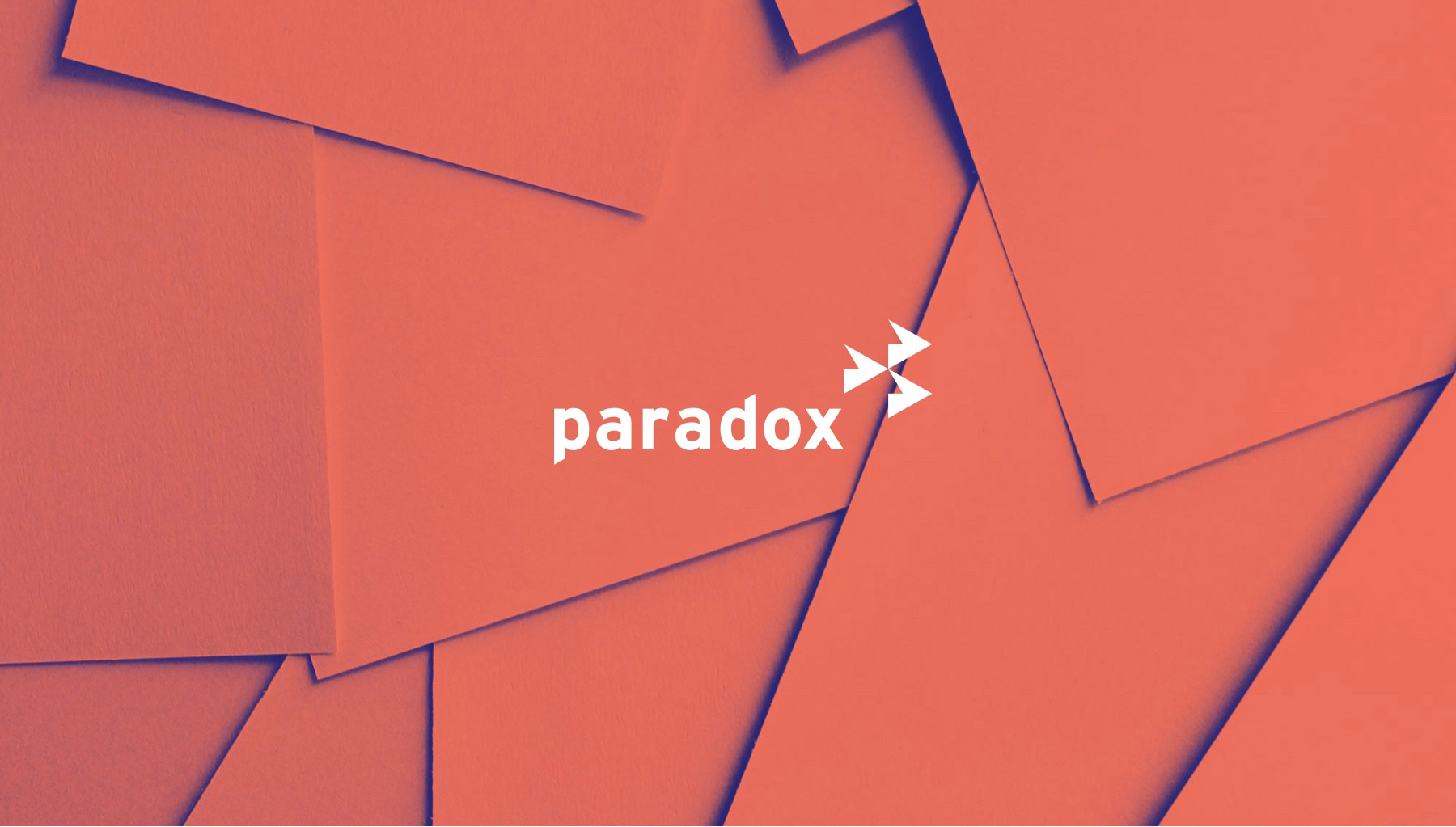 paradox retail white logo with duotone textured background
