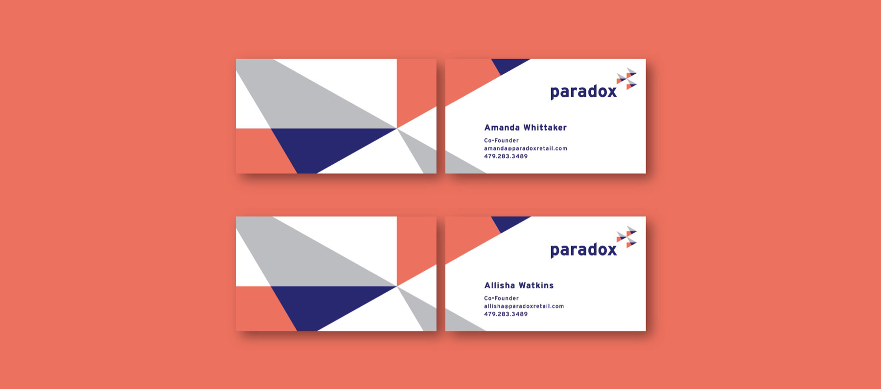 paradox retail business cards