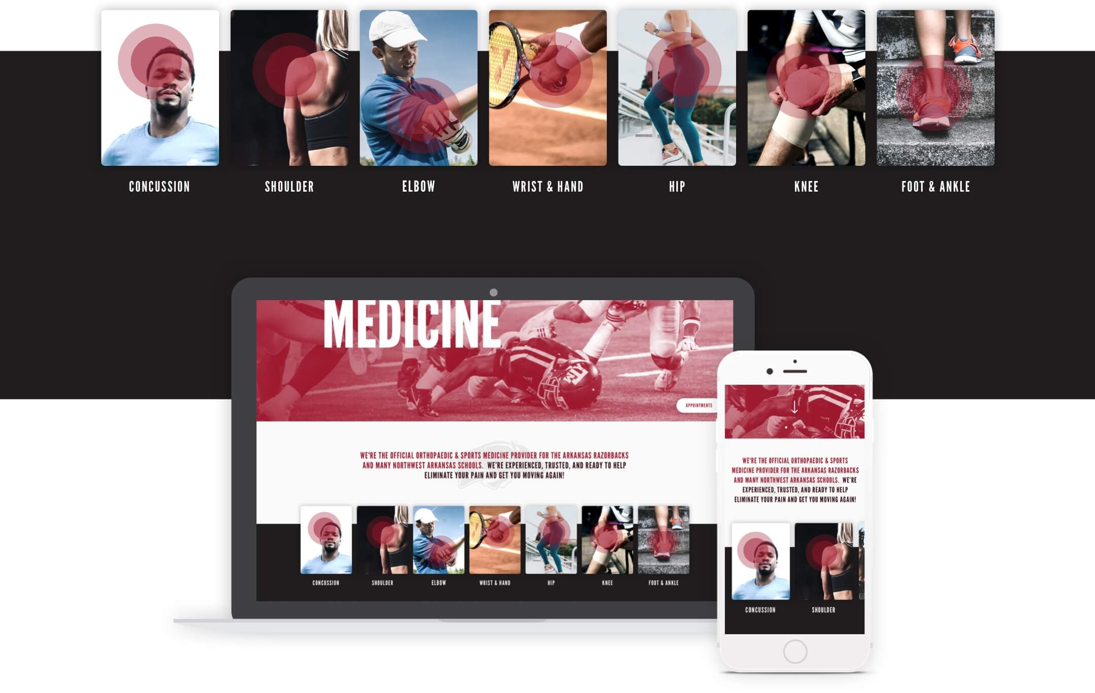 advanced orthopaedic specialists website designs