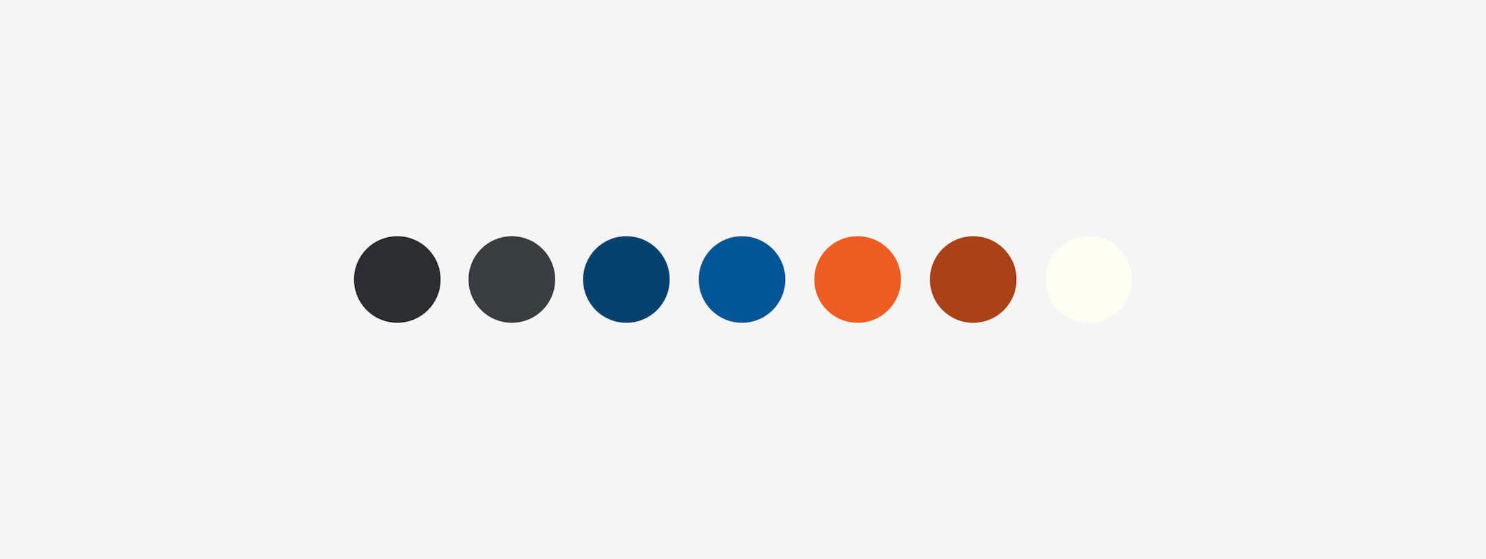 Bikes Blues and BBQ Website Color Palette