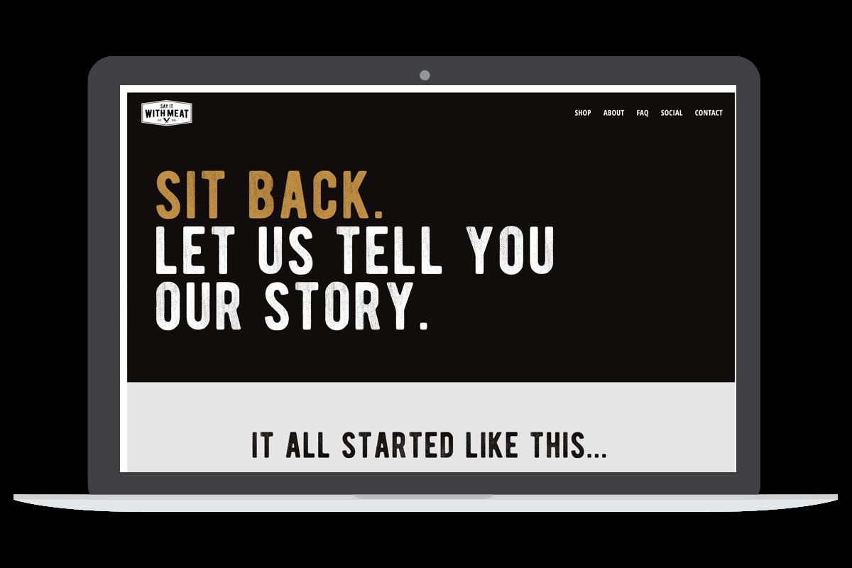 say it with beef desktop homepage screen