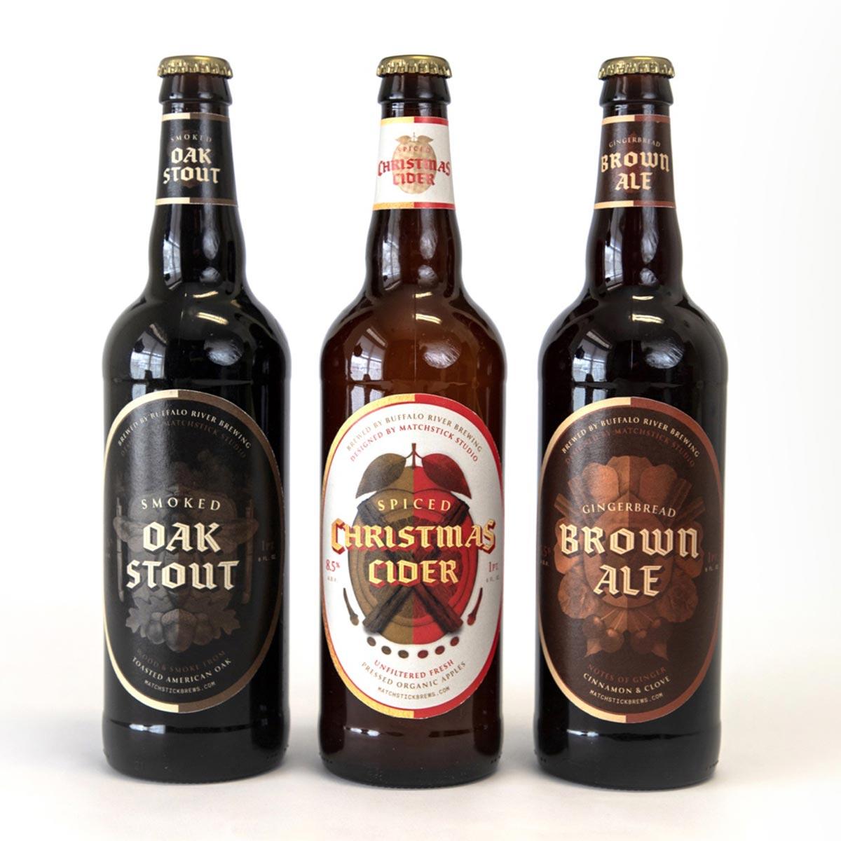 matchstick brews beer bottles