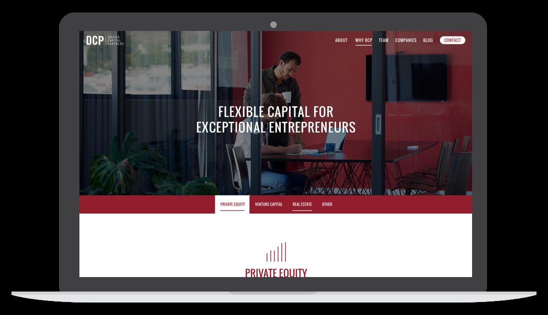 dozier capital website homepage desktop screen