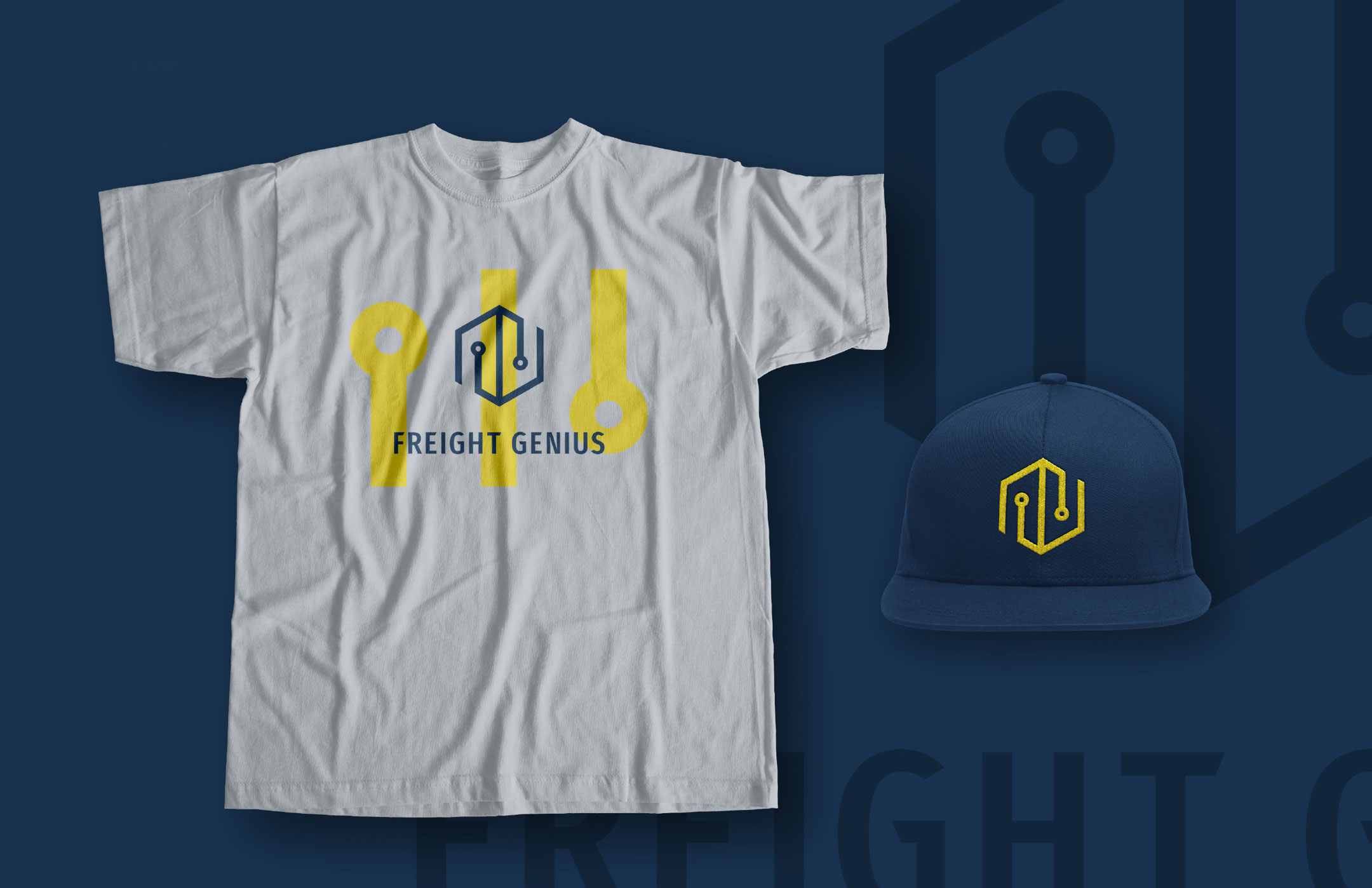 freight genius tshirt and hat