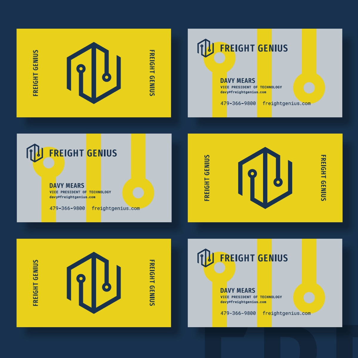 freight genius business cards