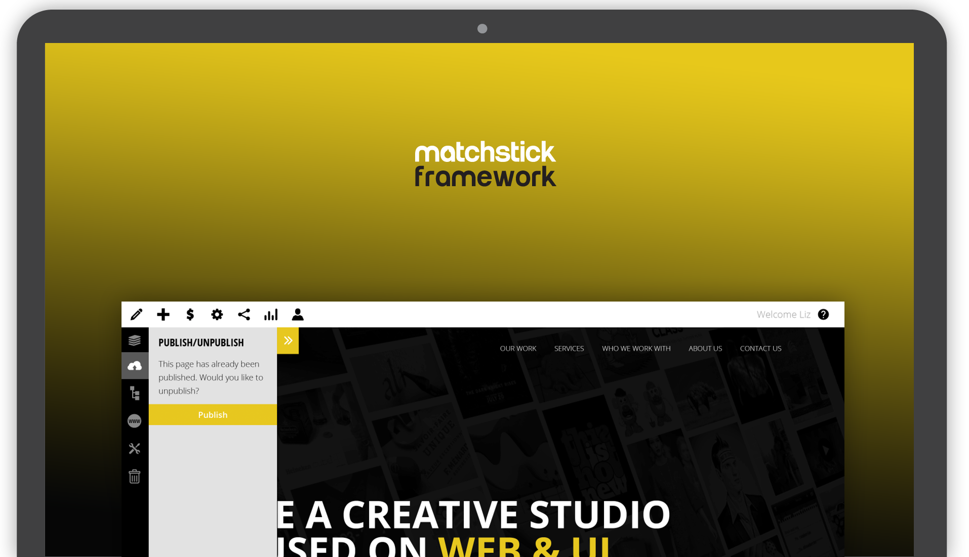 matchstick framework desktop example screen