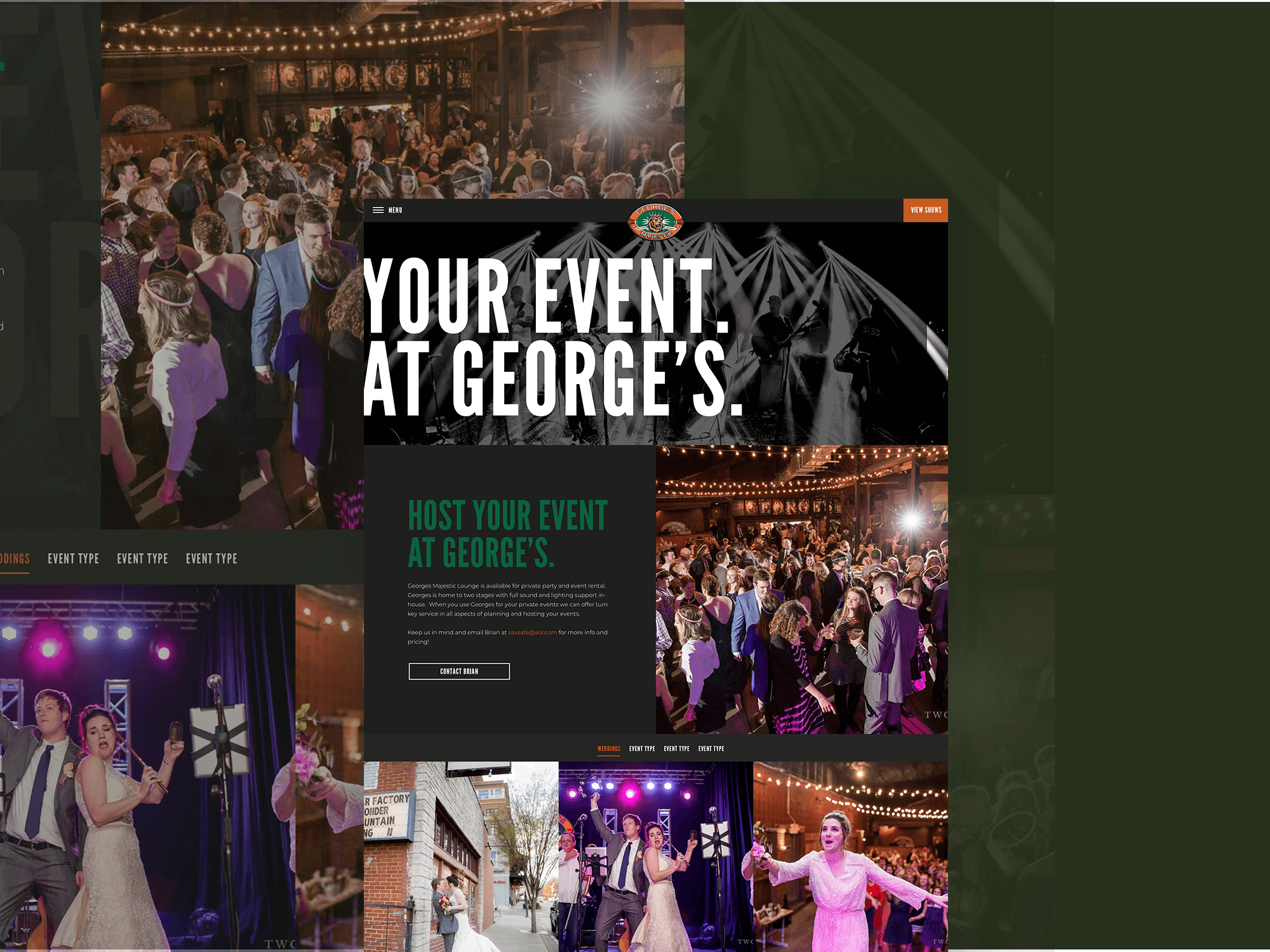 George's Majestic Lounge Event Page Shot