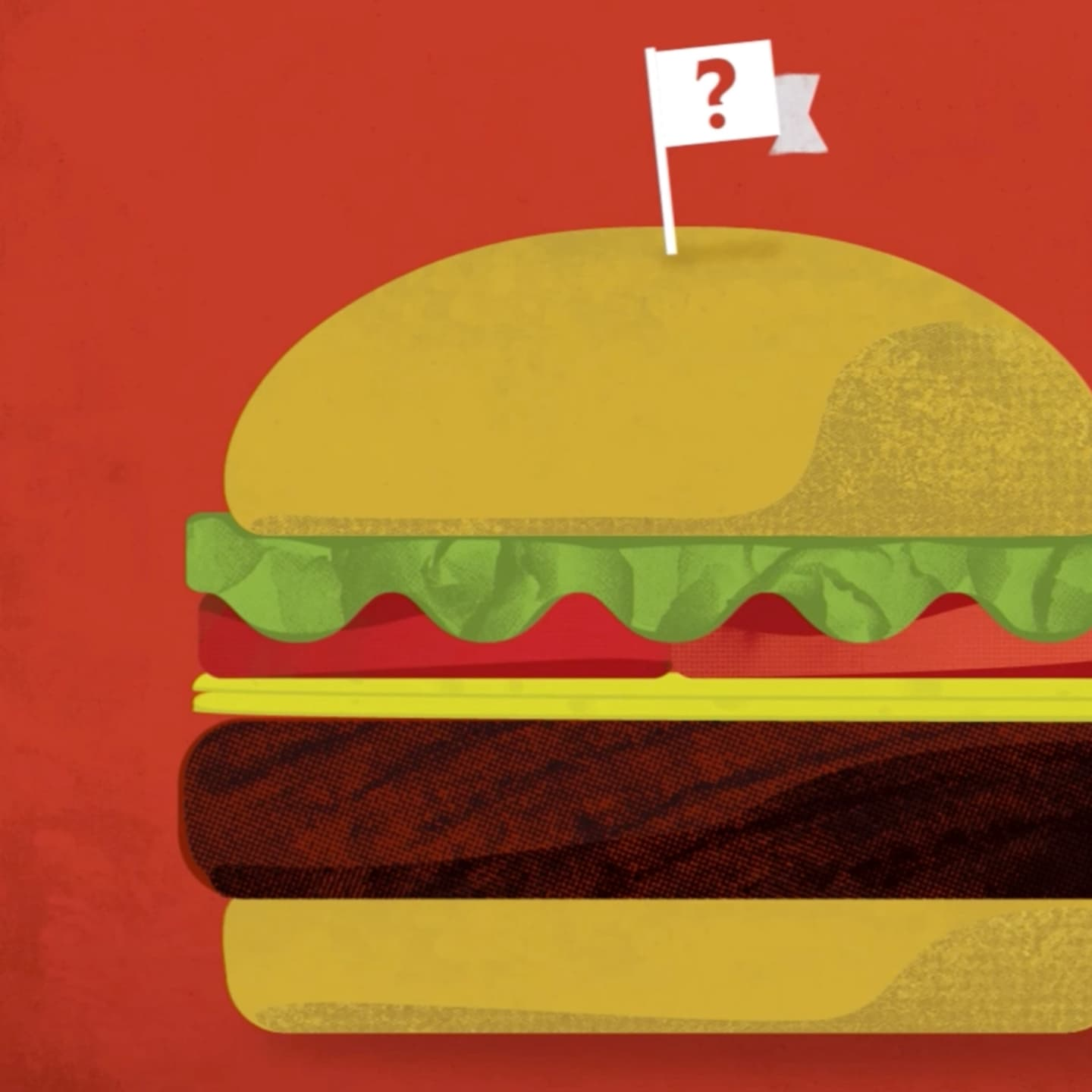Still image of a hamburger from the Zephyr Foods informational video.
