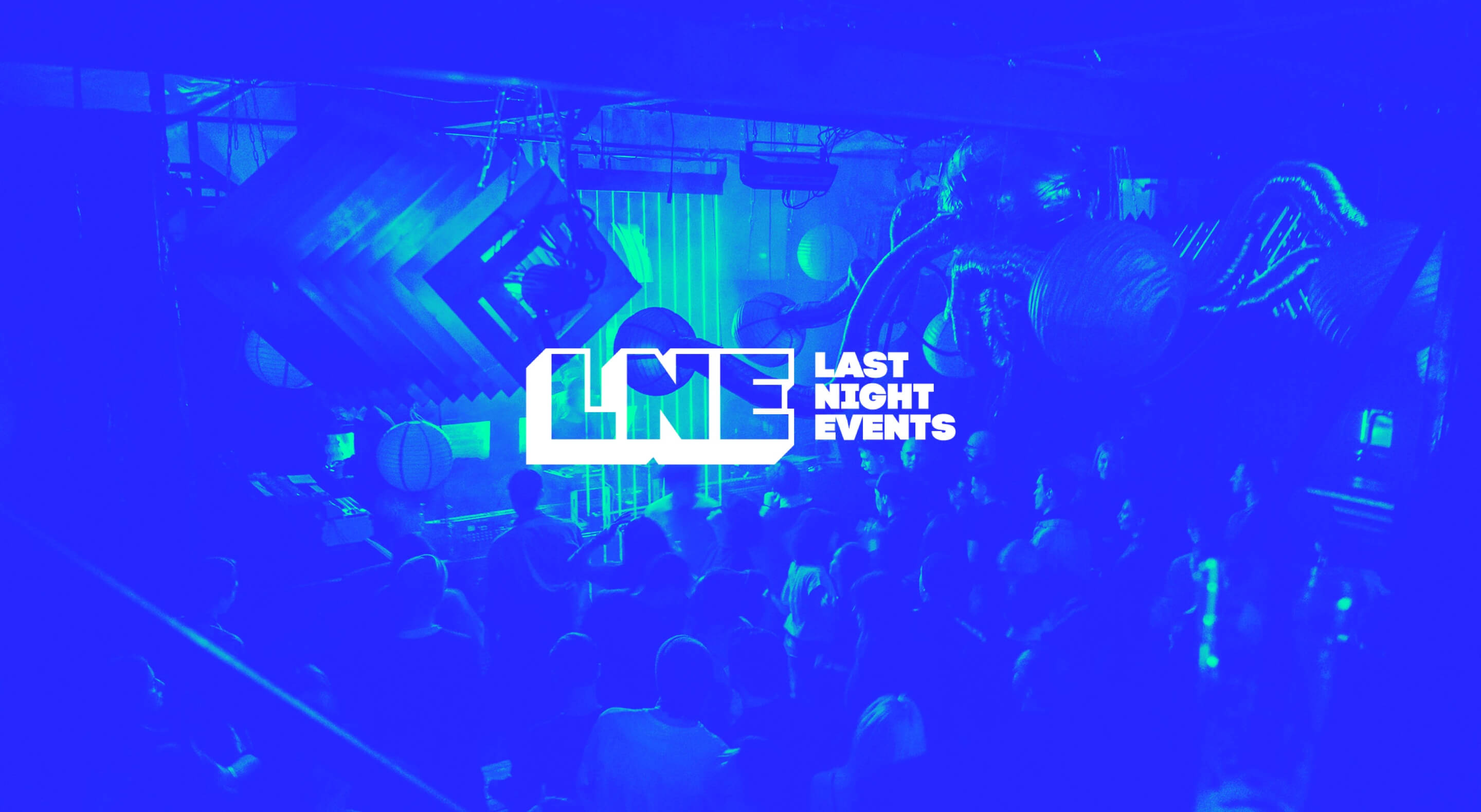 last night events logo with photo background