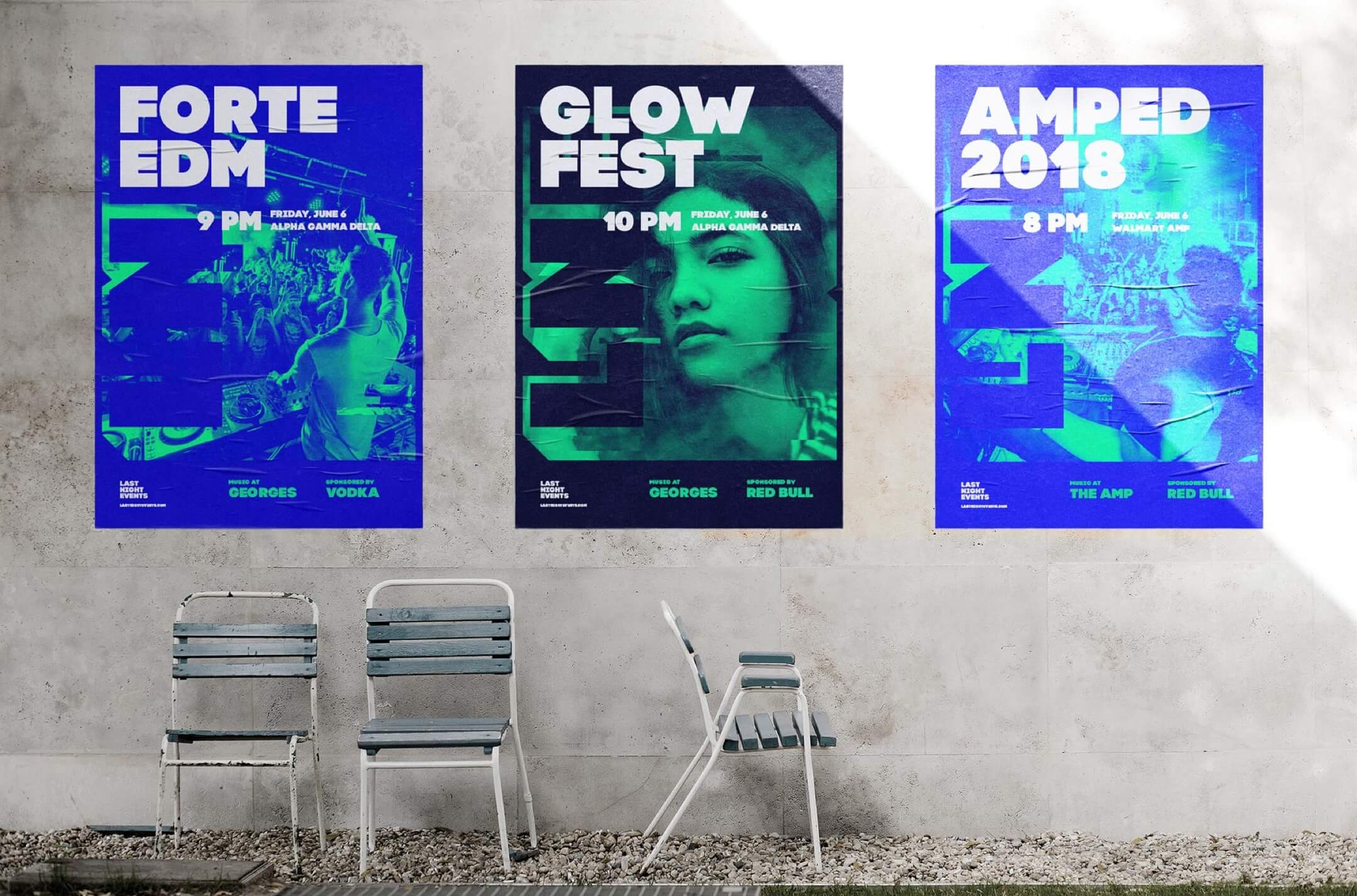 last night events posters