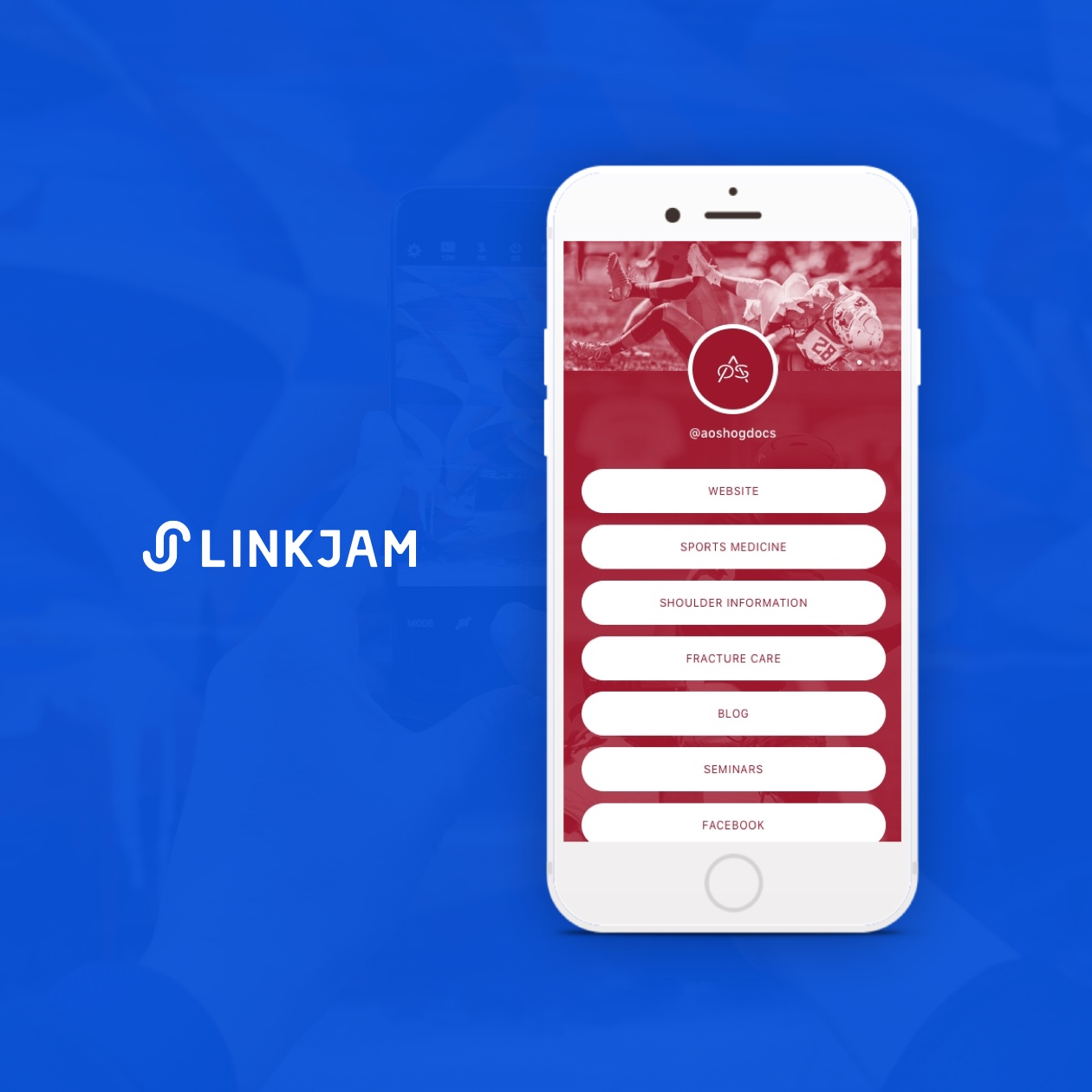 linkjam screenshot with advanced orthopaedic specialists