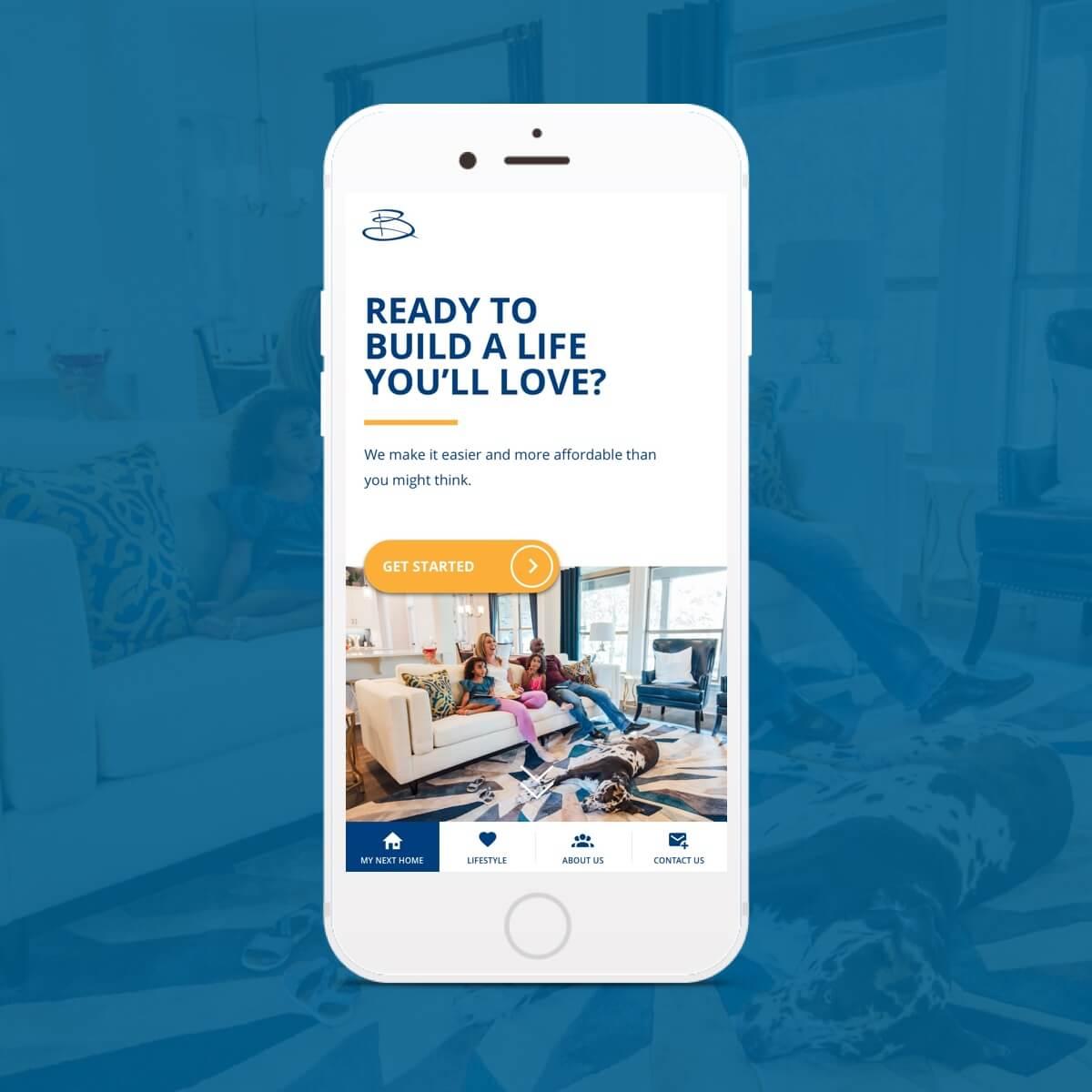 buffington homes mobile website design