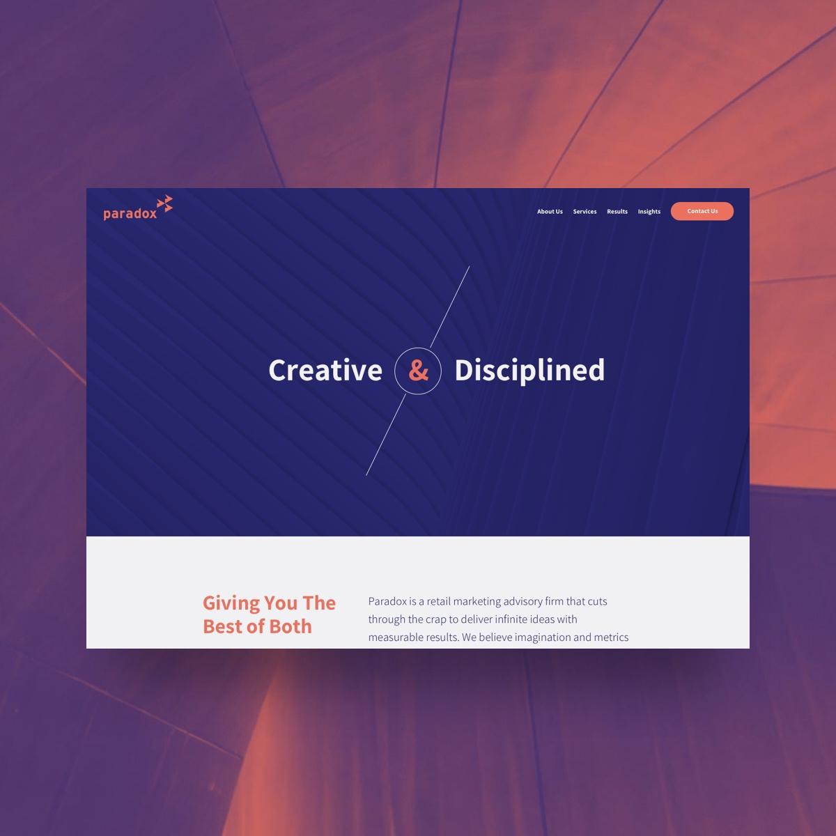 paradox desktop website screenshot