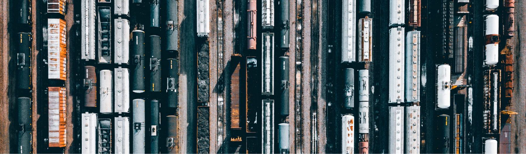 train yard from sky