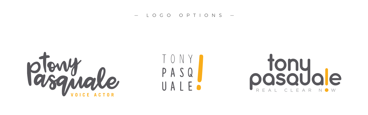 tony pasquale logo options